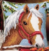 Vervaco 1200-765  Horse in the Snow Cushion Front.jpg