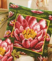 Vervaco 1200-769 Bordered Lily Pad Pillow Cover.jpg