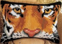 Vervaco 1210-1007 Tiger Rectangular Cushion Front.jpg