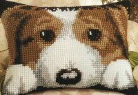 Vervaco 1210-1010 Puppy Rectangular Cushion Front.JPG