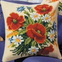 Vervaco 1200-554 Poppy Assorted Pillow Cover.jpg
