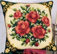 Vervaco 1200-615 Bed Of Roses Pillow Cover.jpg
